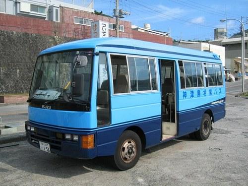 神津島村の写真: 神津島村営バス